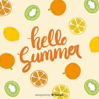 Lettrage coloré de l'été