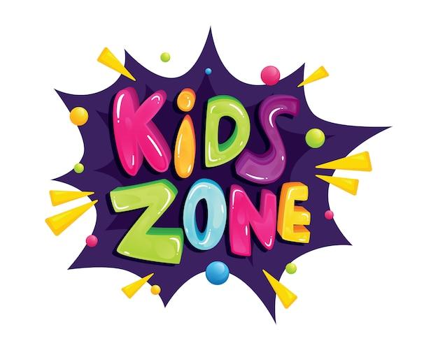 Lettrage coloré de zone enfants