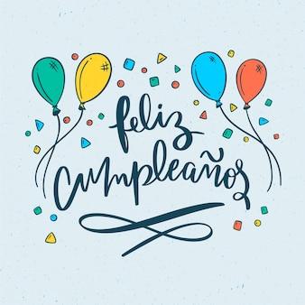 Lettrage de concept joyeux anniversaire