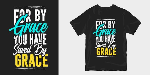 Lettrage de conception de t-shirt de religion
