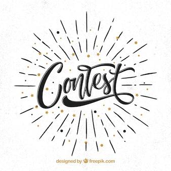 Lettrage de concours moderne avec un design plat