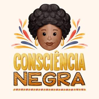 Lettrage consciencia negra