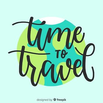Lettrage créatif avec concept de voyage