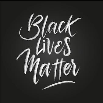Lettrage créatif de la vie noire compte