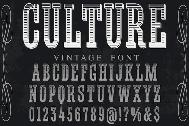 Lettrage culture de conception d'étiquettes artisanales