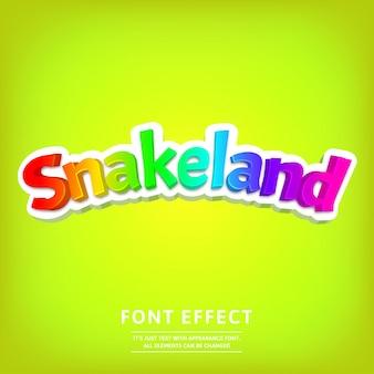 Lettrage de dessin animé à la mode avec effet de texte de titre de jeu coloré