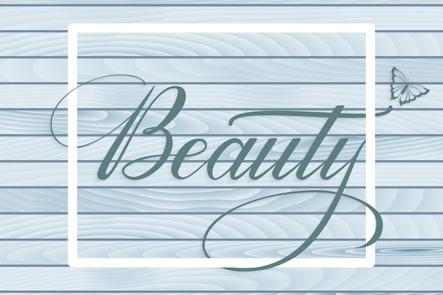 Lettrage dessiné à la main beauté. calligraphie manuscrite moderne et élégante.
