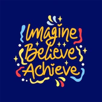 Lettrage dessiné à la main citation inspirante et motivante