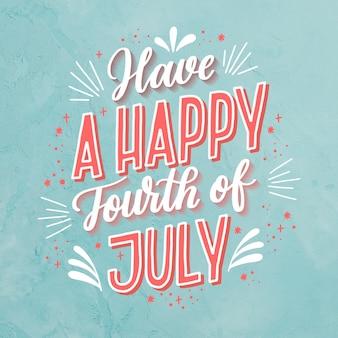 Lettrage du 4 juillet avec photo