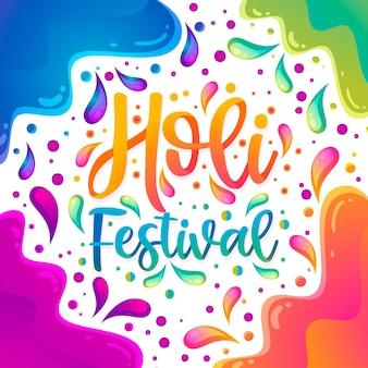 Lettrage du festival holi