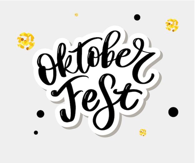 Lettrage du festival oktoberfest