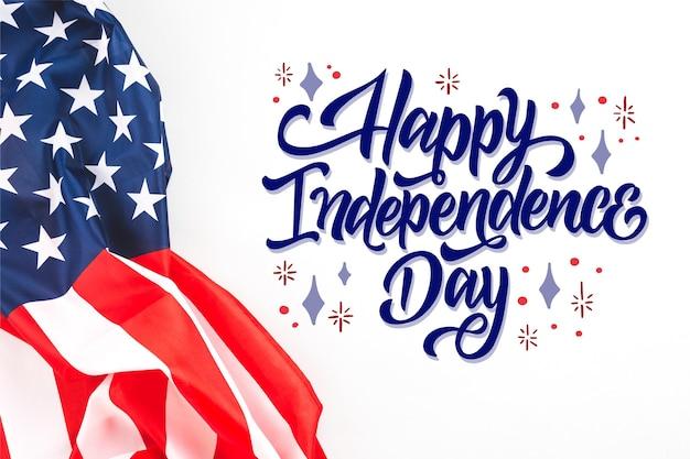 Lettrage du jour de l'indépendance du 4 juillet