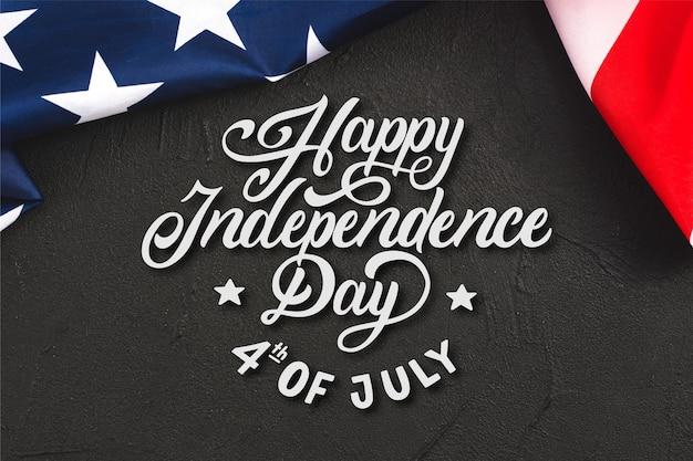 Lettrage du jour de l'indépendance des états-unis