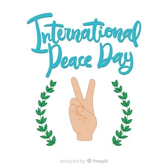 Lettrage du jour de la paix