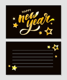 Lettrage du nouvel an