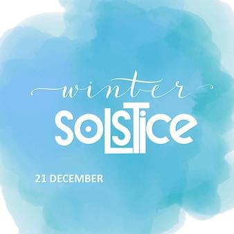 Lettrage du solstice d'hiver. éléments pour invitations, affiches, cartes de voeux