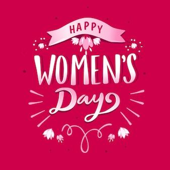Lettrage du style de la journée des femmes