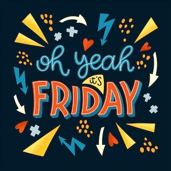 Lettrage du vendredi