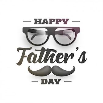 Lettrage élégant de la fête des pères heureuse