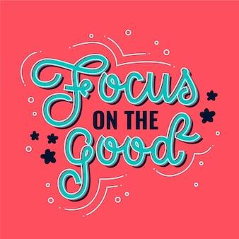 Lettrage d'esprit positif