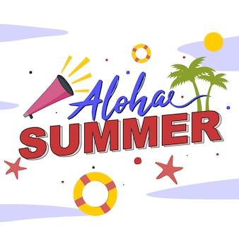 Lettrage: été aloha
