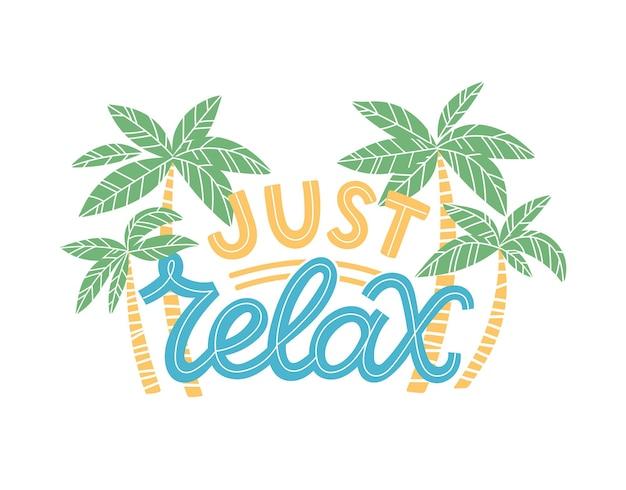 Lettrage d'été coloré dans un style moderne. décoration de vacances dessinée à la main. conception d'illustration vectorielle isolée avec des éléments d'été.