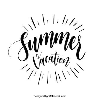 Lettrage d'été à l'encre noire
