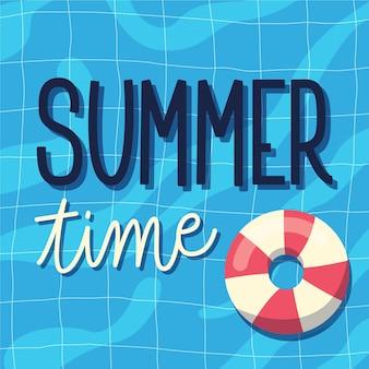 Lettrage d'été avec floatie