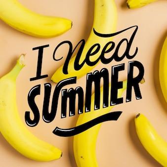 Lettrage d'été avec photo