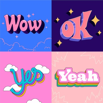 Lettrage d'expressions dans un style rétro