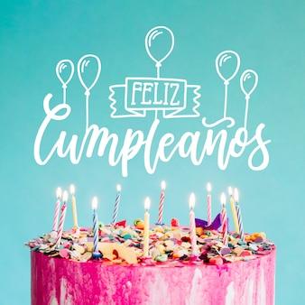 Lettrage feliz cumpleaños