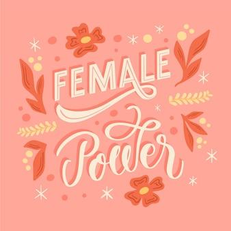 Lettrage féministe dessiné à la main