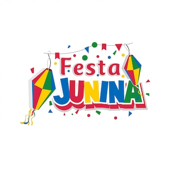 Lettrage festa junina