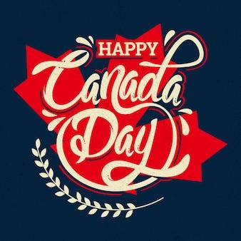 Lettrage de la fête du canada