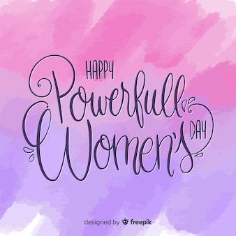 Lettrage fête des femmes