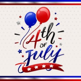 Lettrage de la fête de l'indépendance