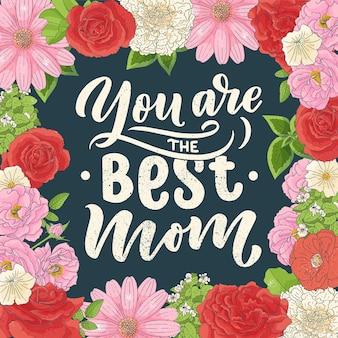 Lettrage de fête des mères pour carte-cadeau