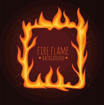Lettrage de flamme en carré