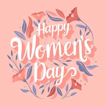 Lettrage floral de la journée des femmes