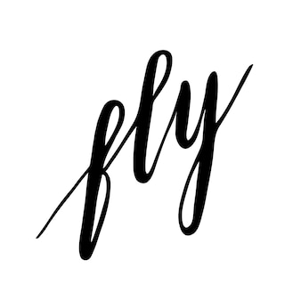 Lettrage fly.