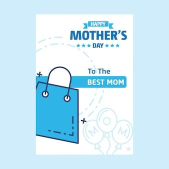 Lettrage fond fête des mères heureux fond bleu