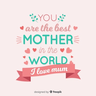Lettrage de fond de fête des mères
