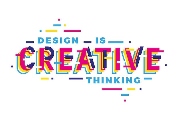 Lettrage géométrique de pensée créative