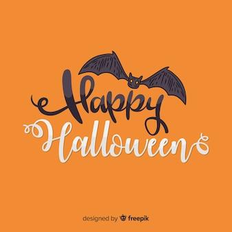 Lettrage halloween chauve-souris
