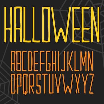 Lettrage halloween avec des filets d'araignée