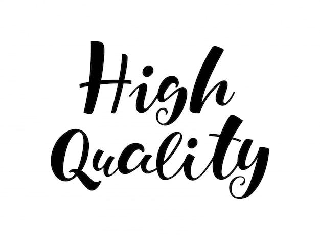 Lettrage de haute qualité