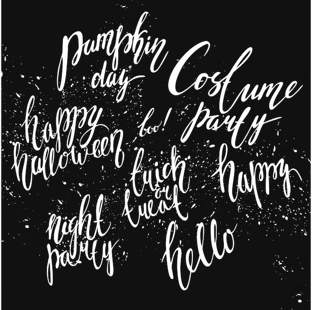 Lettrage helloween