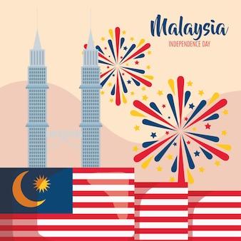 Lettrage d'indépendance de la malaisie