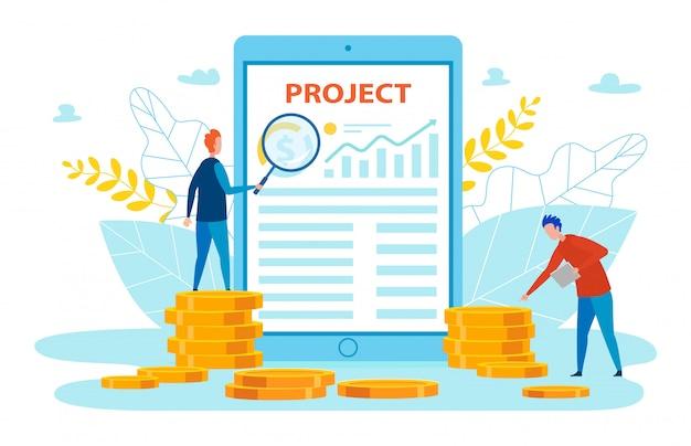 Lettrage informatif de projets de promotion de bannières.