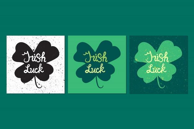 Lettrage irlandais de chance en trèfle
